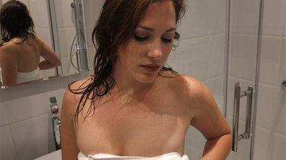 hot babe from Caprica Shower Time